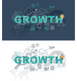 growth website banner design concept vector image vector image