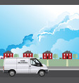 home delivery to residential house vector image vector image