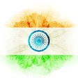 indian flag in watercolor background vector image vector image