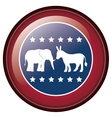 Isolated donkey and elephant of vote design vector image vector image