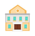 isolated museum icon vector image