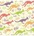 Jumping kangaroo seamless pattern background vector image vector image