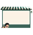 Line paper design with little boy vector image vector image