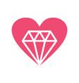 love diamond jewelry logo vector image