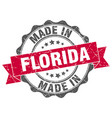 made in florida round seal vector image vector image