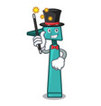 magician otoscope mascot cartoon style vector image
