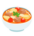 massaman thai curry with beef vector image vector image