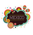 mexican fiesta background banner vector image vector image