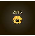 new year lamb golden design Symbol of 2015 Sheep vector image