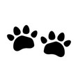 paw logo or cat and dog animal pet vector image