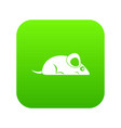 pet mouse icon digital green vector image