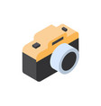 photo camera icon isometric isolated tourism and vector image