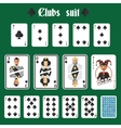 Playing cards clubs set vector image