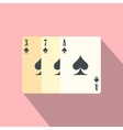 Playing cards flat icon vector image vector image