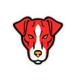 plummer terrier dog front mascot vector image