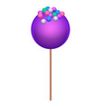 purple lollipop icon isometric style vector image vector image