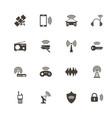 radio - flat icons vector image vector image