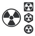 Radiohazard icon set monochrome vector image vector image