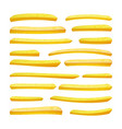 realistic french fries tasty fast food vector image vector image