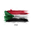 realistic watercolor painting flag sudan vector image