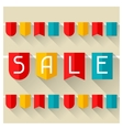 Sale and shopping advertising poster in flat vector image