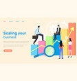 scaling business people achieving success at work vector image vector image