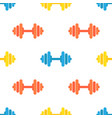 seamless pattern of gym barbells sport vector image vector image