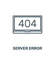 server error icon thin outline style design from vector image