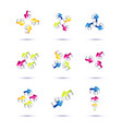set of minimal arrow multicolor symbol set and vector image vector image