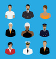 set professions people occupation avatar vector image vector image