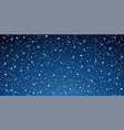 snow blue background christmas snowy winter vector image
