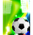 Soccer concept background vector image