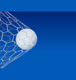 soccer or football 3d ball on blue sky background vector image
