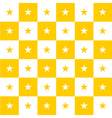 Star Yellow White Chess Board Background vector image