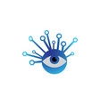 technology eye icon for logo design high tech vector image