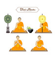 thai monks action collections vector image