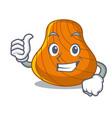thumbs up hard shell character cartoon vector image vector image