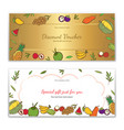 tropical fruits theme gift certificate voucher vector image