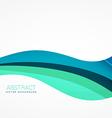 wave background design in blue color vector image vector image