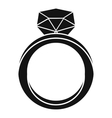 Wedding ring icon simple style vector image