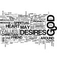 when god talks text word cloud concept vector image vector image