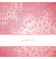 Sweet pink card or invitation for birthday party vector image