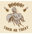 Halloween hand drawn ghost vector image