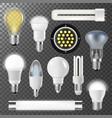 incandescent lamps light bulbs fluorescent energy vector image