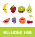 Moustached fruit vector image