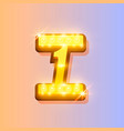 award number 1 banner gold object vector image