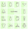 14 clothing icons vector image vector image