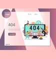 404 page not found error website landing vector image