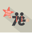 73rd Years Anniversary Typography Design vector image vector image