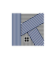 abstract art k letter realty vector image vector image